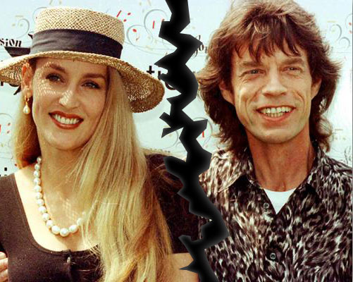 Jerry Hall e Mick Jagger