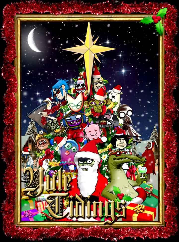 Gorillaz dá brindes no Natal