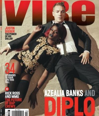 Azealia Banks e o produtor Diplo na capa da revista Vibe