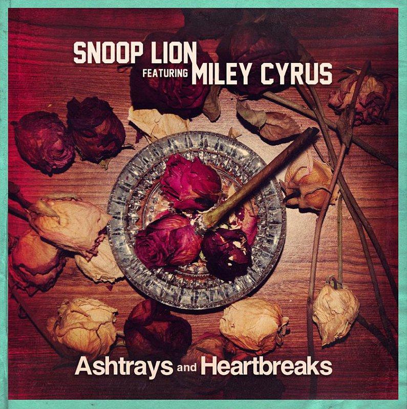 "Capa do single ""Ashtrays and Heartbreaks"" feat Miley Cyrus"