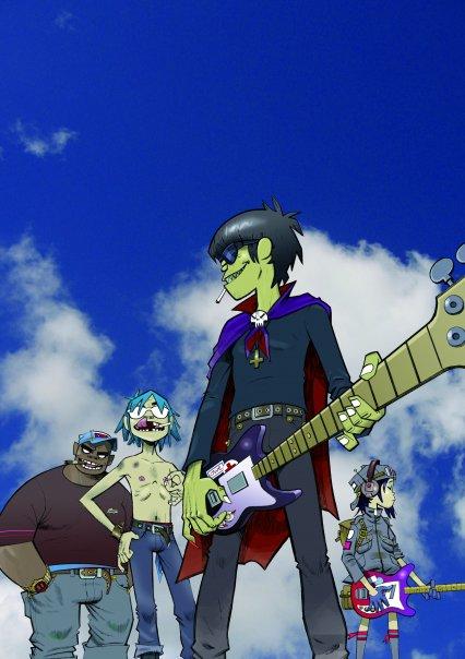 Integrantes animados da banda Gorillaz (Foto: Divulgação/ Facebook)