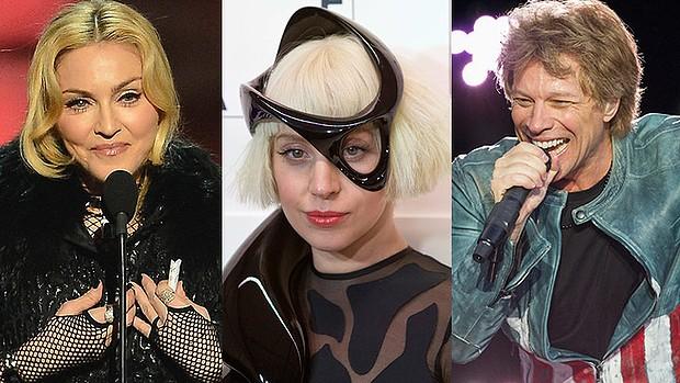 Madonna, Lady Gaga e Bon Jovi lideram lista (Getty Images)