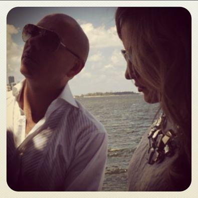 Imagem de Pitbull com Claudia Leitte, divulgada pela cantora (Reprod./Instagram)