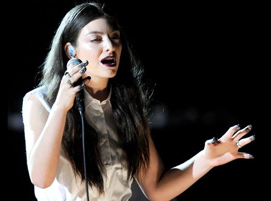 Cantora Lorde, de apenas 17 anos, foi um dos destaques (Getty Images)