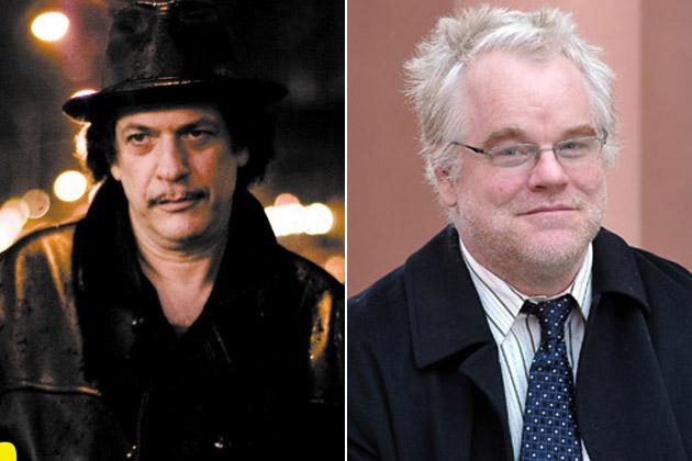 Da esquerda para a direita: Robet Aaron e Philip Seymour Hoffman (Getty Images)