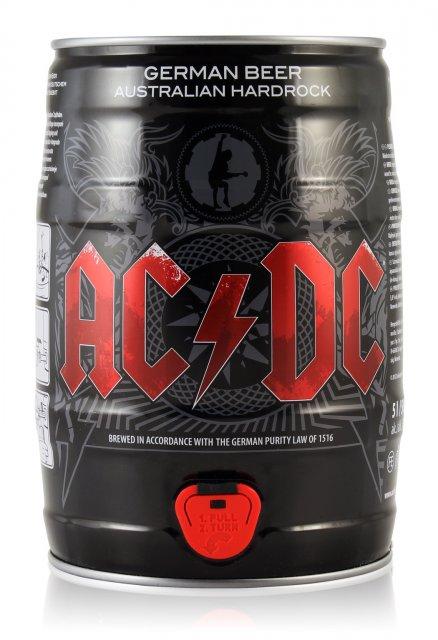 Imagem do barril de cinco litros de cerveja do AC/DC (Divulgação)