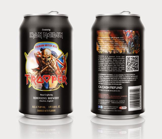 Sucesso de vendas, cerveja do Iron Maiden vai ganhar versão em lata