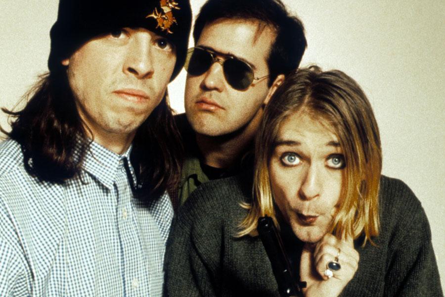 Da esquerda para a direita: Dave Grohl, Krist Novoselic e Kurt Cobain (Divulg.)