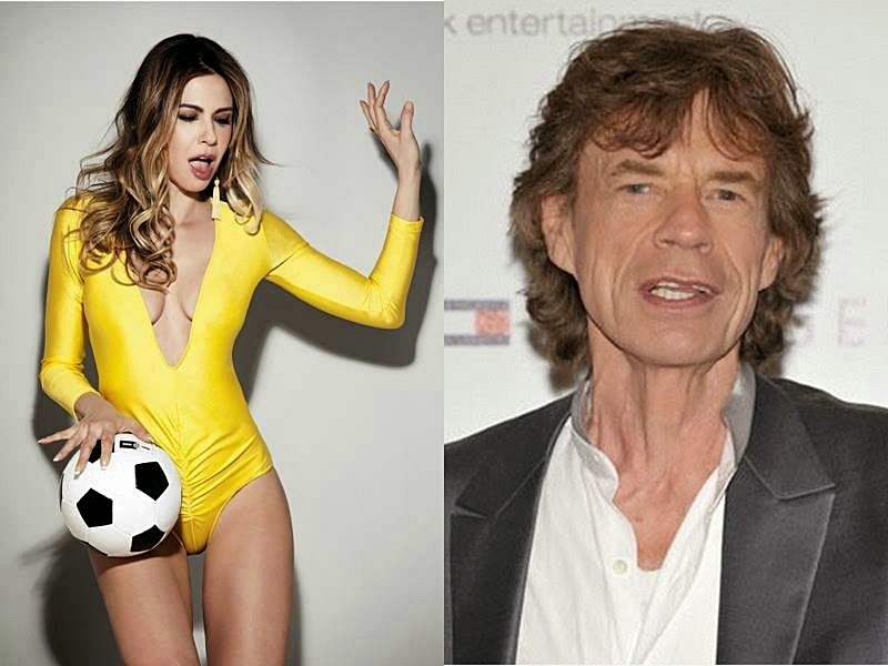Luciana Gimenez se declarou 'amiga' de MIck Jagger (Folha de S. Paulo/Getty)