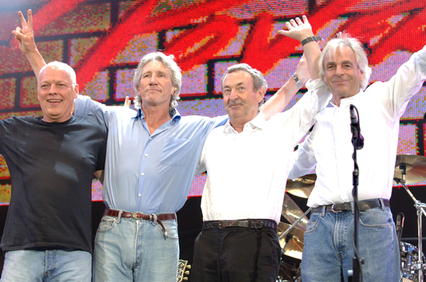 Foto do último show do Pink Floyd, no Live 8 de 2005 (Getty Images)