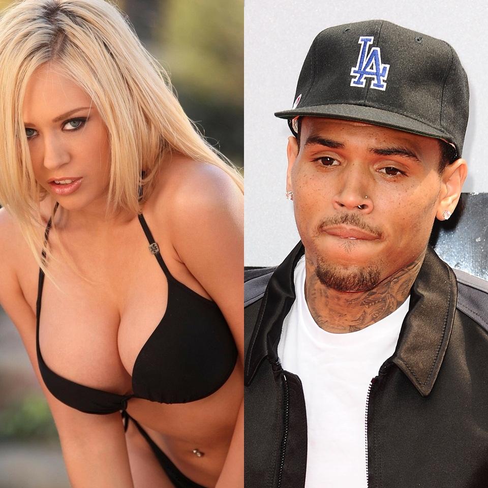 Chris Brown pagou, mas Kagney Linn Karter'negou fogo' (Divulgação)