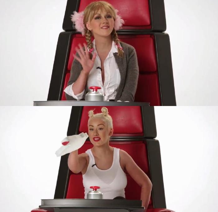 Vídeo foi exibido para divulgar'The Voice' nos Estados Unidos (Divulgação)