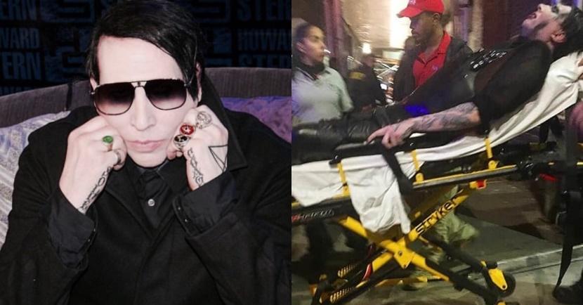 Marilyn Manson é hospitalizado após cenário de palco cair sobre ele