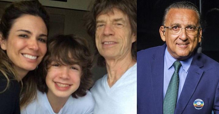 Luciana Gimenez e filho defendem Mick Jagger após piada de Galvão Bueno: 'azarado é você'