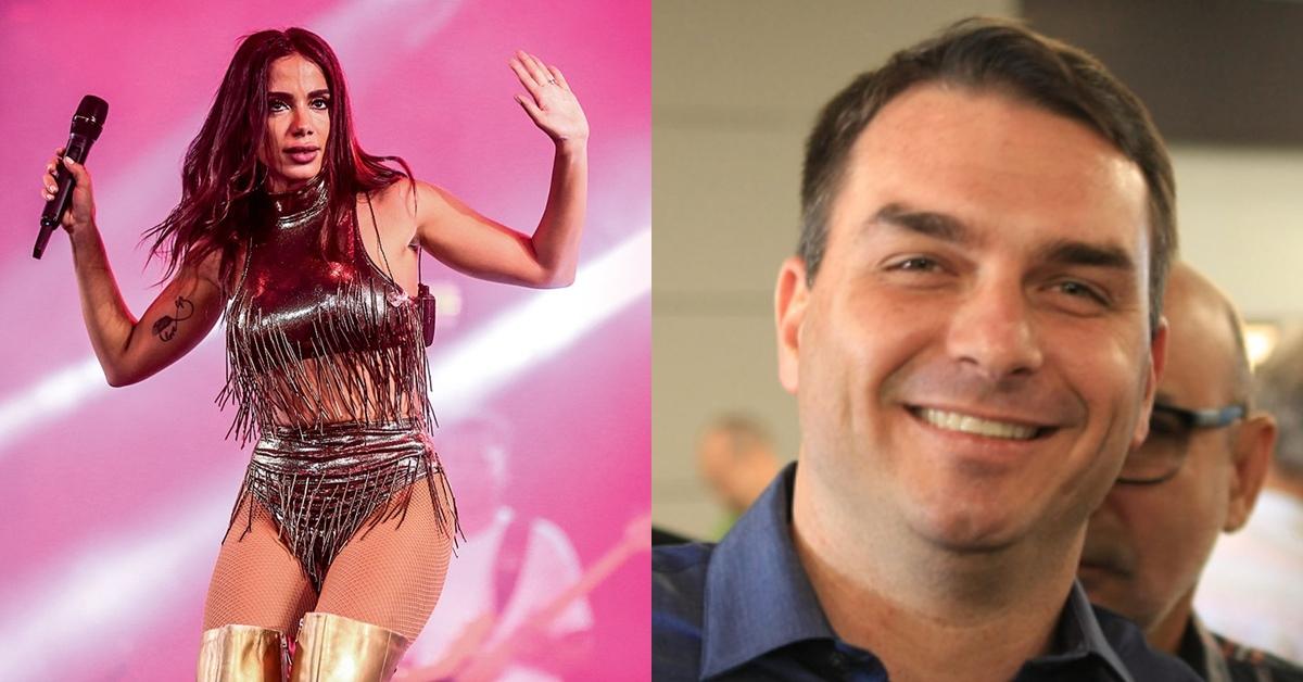 Após desabafo de Anitta, Flávio Bolsonaro posta vídeo para defender a cantora