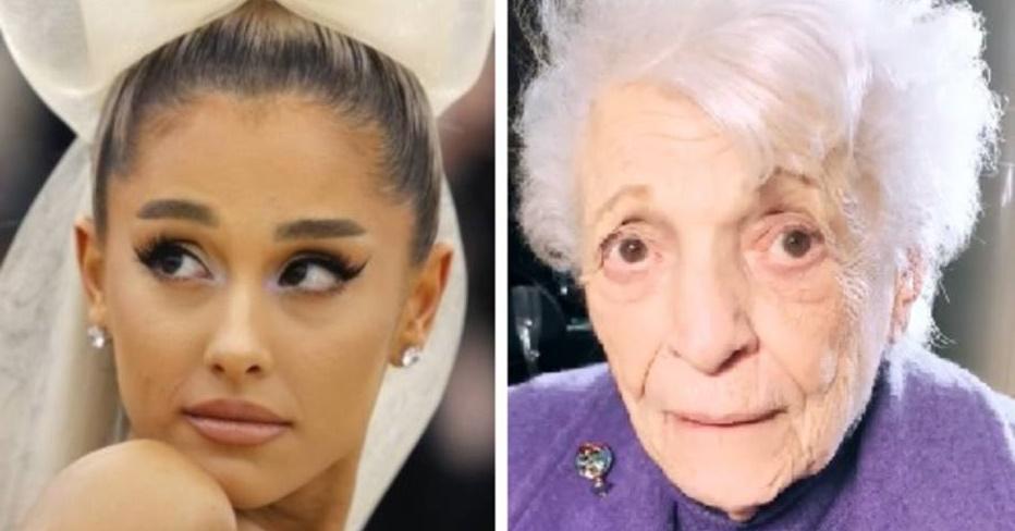 Ariana Grande mostra a avó de 93 anos fazendo tatuagem; veja