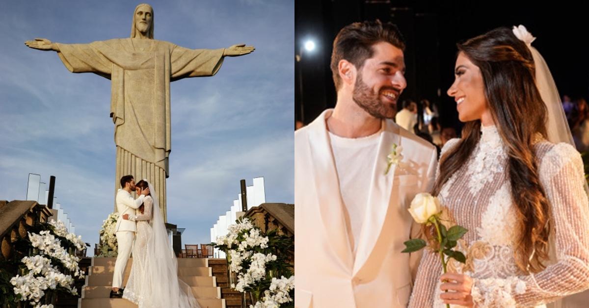 Alok se casa no Cristo Redentor e compartilha fotos e vídeos incríveis da cerimônia