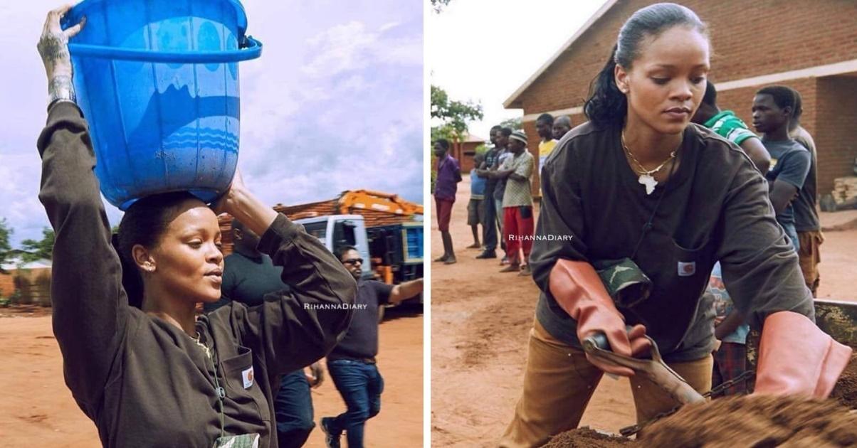 Rihanna ajuda em construção de hospital no Malaui, na África