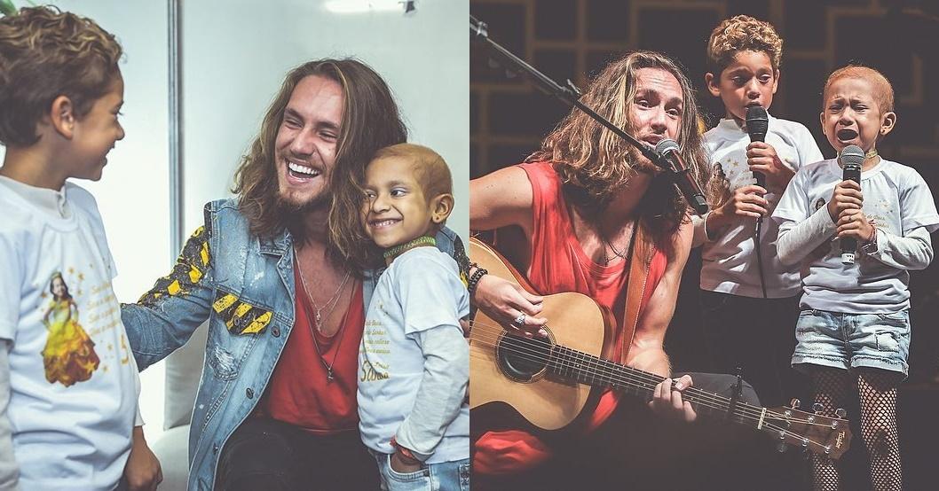 Menina com câncer se emociona cantando 'O Sol' com Vitor Kley; assista