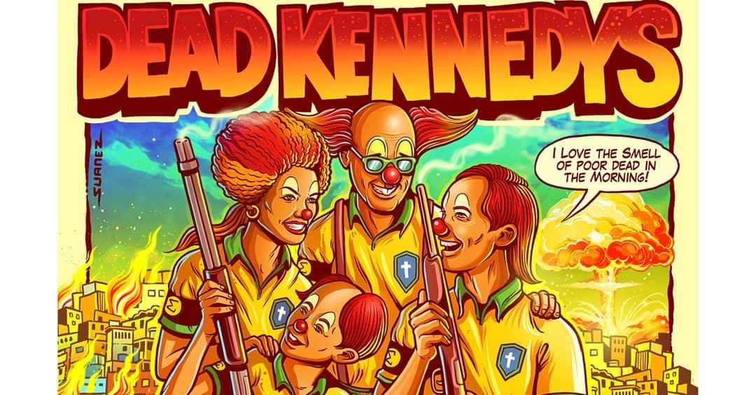 Após polêmica com Bolsonaro, Dead Kennedys e ilustrador divergem sobre cartaz