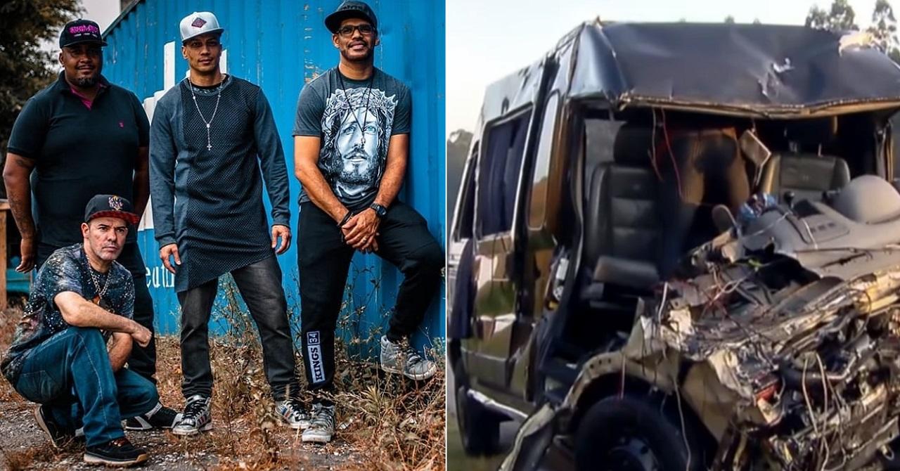 Acidente com van da banda Sampa Crew deixa 1 morto e feridos