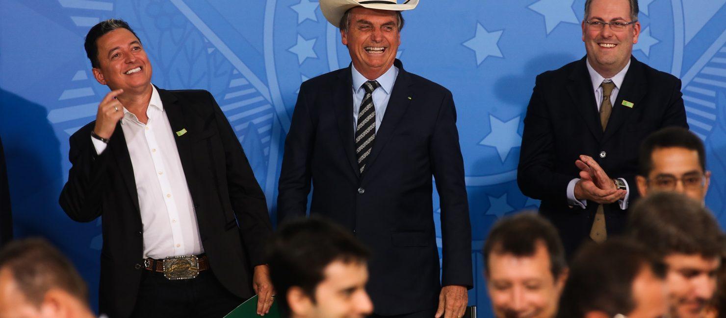 O Presidente Jair Bolsonaro durante Encontro com Sertanejos.