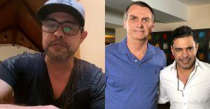 Zezé di Camargo volta a apoiar Bolsonaro: 'que pai não defende os filhos?'