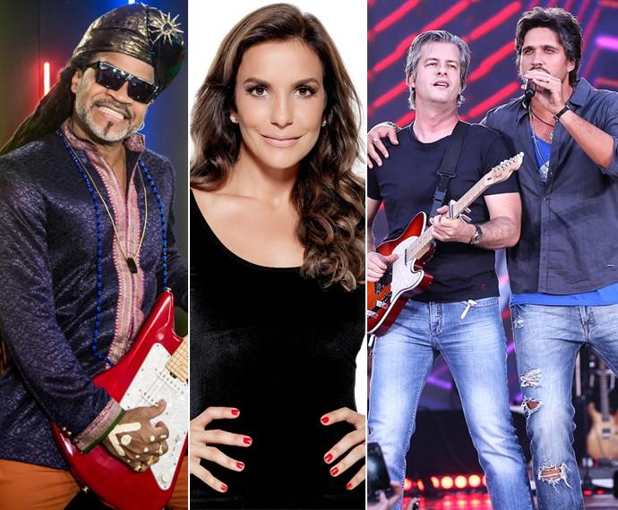 Trio se junta a Carlinhos Brown para o reality (TV Globo/Divulgação)