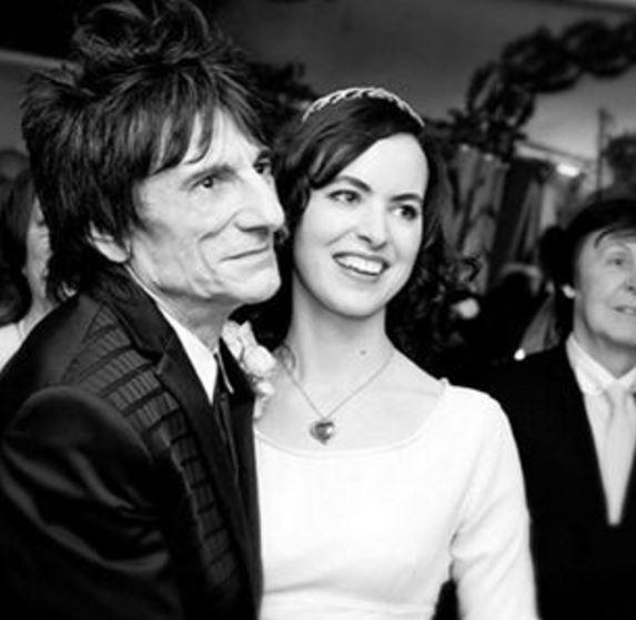 Ronnie e Sally Wood estão casados desde dezembro de 2012 (Reprodução/Instagram)