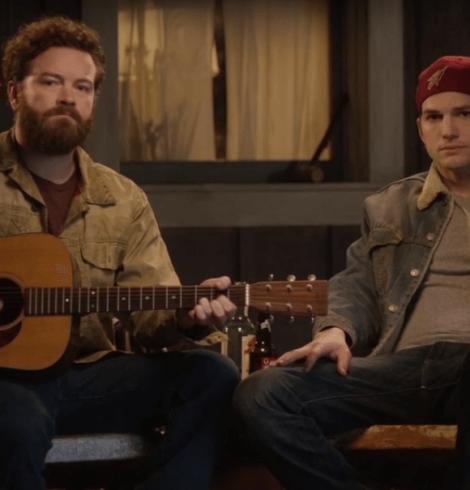 Ashton Kutcher canta Sérgio Reis para promover série da Netflix; assista