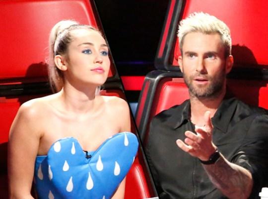 'The Voice': Adam Levine e Miley Cyrus se detestam, diz revista