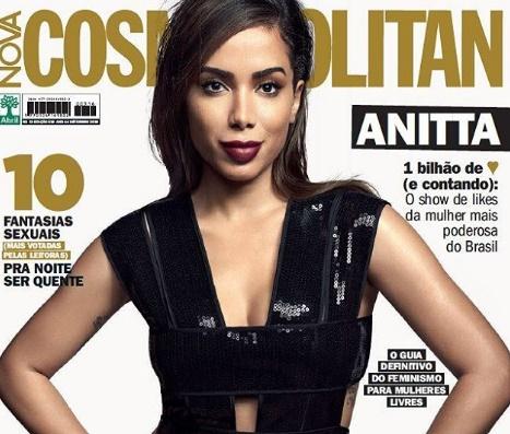 Cantora é capa da revista Cosmopolitan Brasil (Reprodução/Instagram)