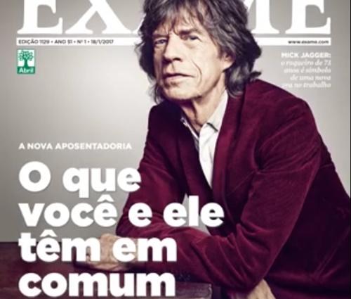 Mick Jagger vira meme no Brasil após revista usá-lo em capa