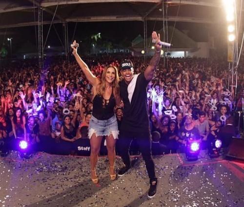 Ivete participou do'Baile da santinha', em Salvador (Reprodução/Instagram)