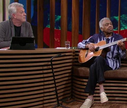 Aos 74, Gil falou sobre o assunto com naturalidade (Reprodução/Globo)