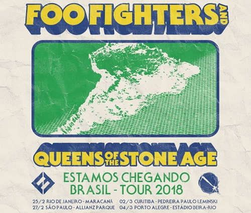 Foo Fighters e Queens Of The Stone Age confirmam shows no Brasil