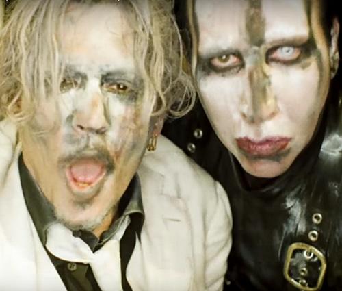 Johnny Depp e Marilyn Manson se confrontam em novo clipe (Rep./YouTube)