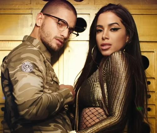Maluma já gravou música com Anitta:'Sim ou Não' (Reprodução/YouTube)