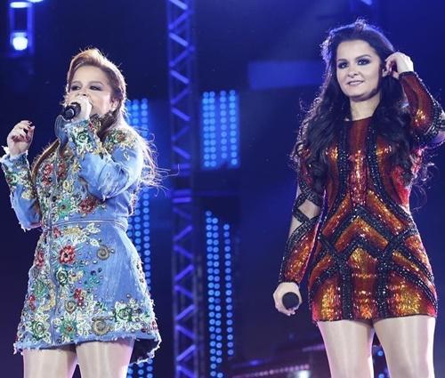 As gêmeas Maiara e Maraísa foram as que tiveram mais aparições na lista (Divulg)