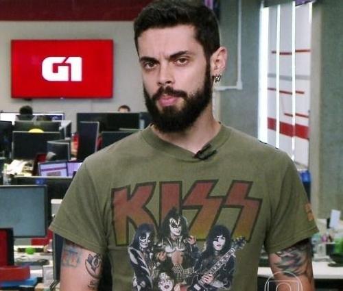 Cauê Fabiano demonstrou empolgação com post do Kiss (Divulgação)