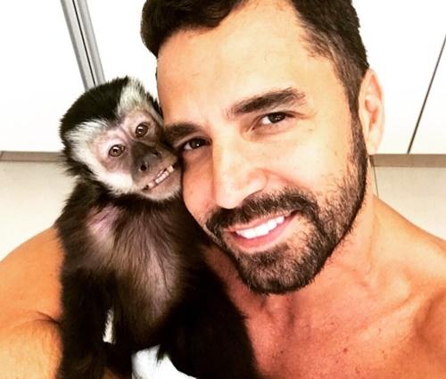 Macaco de Latino morreu atropelado na última terça-feira, 20 (Reprod./Instagram)