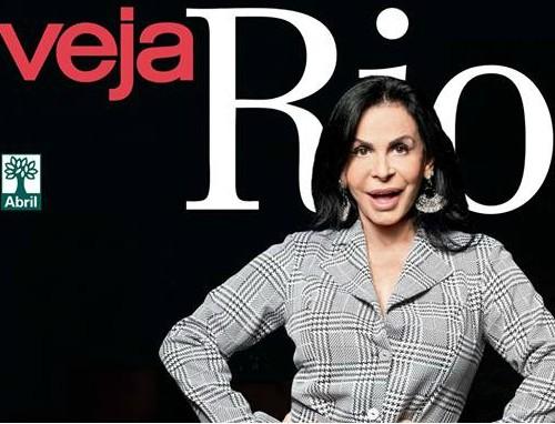 Gretchen na capa da Veja Rio: reportagem gerou polêmica (Divulgação)
