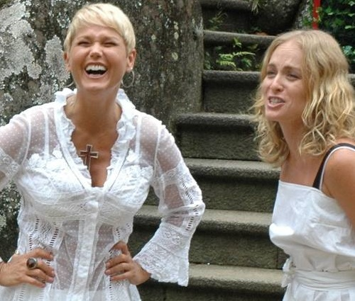 Dupla cantou as músicas'Parabéns da Xuxa' e'Vou de Táxi' (Paulo Belote/Globo)